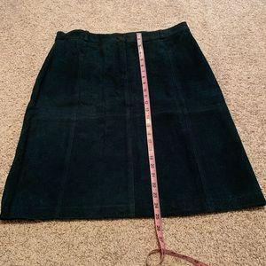 Dresses & Skirts - Teal Suede Skirt